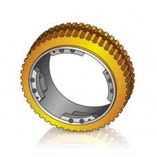250 - 90 мм Бандаж - Ведущее колесо Поломоечных машин Tennant - Изображение