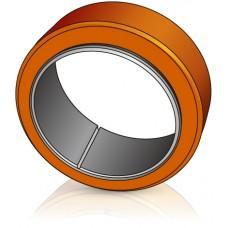 285 - 100 мм Бандаж - Ведущее колесо Linde 0009937041 для ричтраков  - Изображение