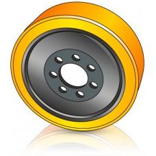 340 - 114 мм Ведущее колесо 7 отверстий для ричтраков и штабелеров - Изображение