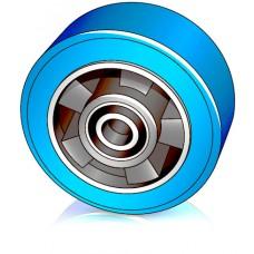 125 - 50 мм Опорное колесо для вилочных погрузчиков, штабелеров - Изображение