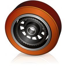 343 - 108 мм Грузовое колесо Jungheinrich 63195460 для вилочных погрузчиков, ричтраков - Изображение