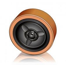 285 - 100 мм Грузовое колесо Crown 810574-001 для вилочных погрузчиков, ричтраков - Изображение