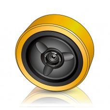 285 -100 мм Грузовое колесо Crown 820184 для вилочных погрузчиков, ричтраков - Изображение