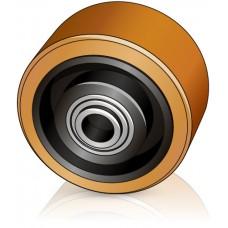 125 - 60/64 мм Опорное колесо Linde 0009933803 для штабелеров, электротележек - Изображение