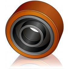 140 - 60 мм Опорное колесо Toyota BT 46106 для вилочных погрузчиков, штабелеров, тележек - Изображение
