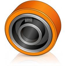 150 - 55 мм Стабилизирующее колесо Atlet 60477 для вилочных погрузчиков, тележек Atlet - Изображение