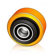 150 - 40/54 мм Опорное колесо Jungheinrich 26916651 для ричтраков и штабелеров - Изображение