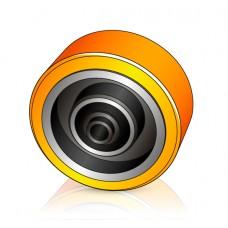 140 - 60 мм Опорное колесо Atlet 116677 штабелеров и электротележек - Изображение