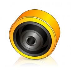 140 - 60 мм Опорное колесо Komatsu 452399016 для вилочных погрузчиков, штабелеров - Изображение