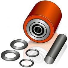 85 - 90/95 мм подвилочный ролик Hyster 1590995 для электротележек