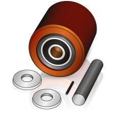 85 - 90 мм несущий ролик, для вилочных погрузчиков, тележек Jungheinrich  - Изображение
