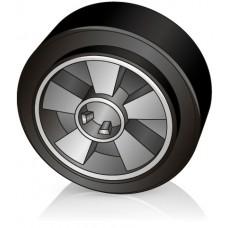 200 - 50 мм Рулевое колесо Jungheinrich 71807720 для гидравлических тележек, рокл - Изображение