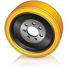 343 - 140-80 мм Ведущее колесо 7 отверстий Hyster 1643642 для ричтраков и штабелеров - Изображение