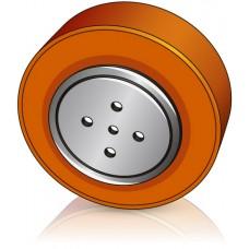 200 - 75 мм  Ведущее колесо 4 отверстия для вилочных погрузчиков MIC - Изображение