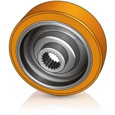 200 - 80,5 мм Ведущее колесо Wagner 464160 для штабелеров Still - Изображение