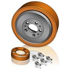 230 - 82 мм Ведущее колесо Jungheinrich 51048458 для штабелеров, подборщиков заказов, тележек  - Изображение