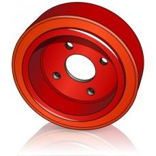 230 - 90 мм Ведущее колесо 4 отверстия Linde 0039902305 для электротележек, штабелеров - Изображение