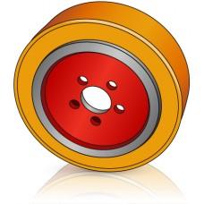 230 - 90 мм Ведущее колесо 5 отверстий Linde 0039933800 для штабелеров  - Изображение