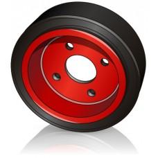 230 - 90 мм Ведущее колесо 4 отверстия Linde 0039902310 для электротележек, штабелеров - Изображение