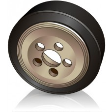 230 - 75 мм ведущее колесо 5 отверстий Linde 0039902358 для электрических тележек, штабелеров - Изображение