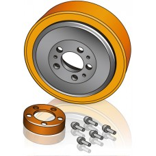 230 - 70/82 мм Ведущее колесо Rocla 109653 для вилочных погрузчиков, штабелеров - Изображение