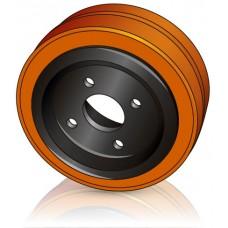 230 - 85 мм 4 отверстия Ведущее колесо Still 5453866 для электротележек - Изображение
