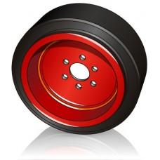 230 - 90 мм Ведущее колесо 6 отверстий для Linde штабелеров и электротележек - Изображение