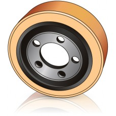 250 - 75 мм Ведущее колесо 5 отверстий Crown 802846 для штабелеров и Электротележек - Изображение