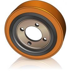 250 - 70 / 75 мм Ведущее колесо 4 отверстия Atlet 78120 для штабелеров и электрических тележек - Изображение