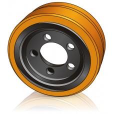 250 - 100 мм Ведущее колесо 5 отверстий Still 493241 или Linde 0009903813 для штабелеров - Изображение