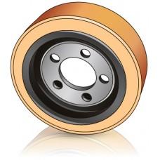 250 - 100 мм Ведущее колесо 5 отверстий LAFIS 5700578 для транспортировщиков палеет, штабелеров - Изображение