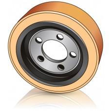 250 - 100 мм Ведущее колесо 5 отверстий Linde 0009903803 для электрических тележек, тягачей штабелеров - Изображение