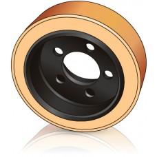 250 - 105 мм Ведущее колесо 5 отверстий BT 135161 для комплектовщиков, штабелеров, тележек - Изображение