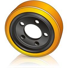 250 - 80 мм Ведущее колесо 5 отверстий OM Pimespo 95306114 для электротележек - Изображение