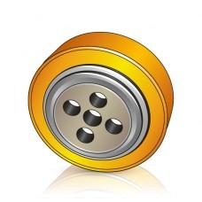 254 - 85 мм Ведущее колесо 4 отверстия Crown 805808 для электротележек, штабелеров - Изображение