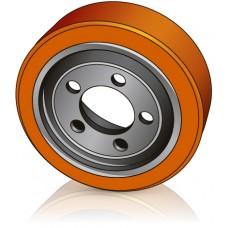 250 - 80 / 82 мм Ведущее колесо 5 отверстий Lafis 5700622 для штабелеров - Изображение
