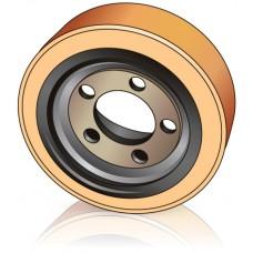 254 - 100 мм Ведущее колесо 5 отверстий Jungheinrich 50054573 для вилочных погрузчиков комплектовщиков  - Изображение