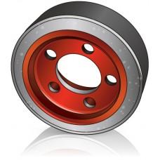 254 - 102 мм Ведущее колесо 5 отверстий Linde 0039902308 для штабелеров и электротележек - Изображение