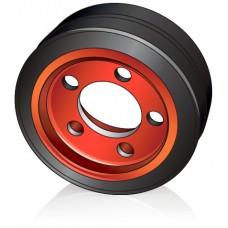 254 - 102 мм Ведущее колесо 5 отверстий Linde 0039902311 для штабелеров и электрических тележек - Изображение
