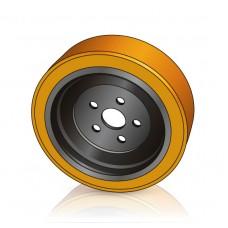 254 - 90 мм Ведущее колесо 5 отверстий Yale 580052985 для транспортировщиков паллет, электротележек - Изображение