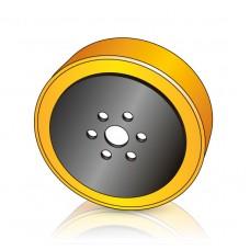 255 - 70/80 мм Ведущее колесо 6 отверстий Yale 272124500 для штабелеров и электротележек - Изображение