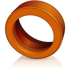 180 - 50 мм Бандажное Ведущее колесо Jungheinrich 27600040 для вилочных погрузчиков - Изображение