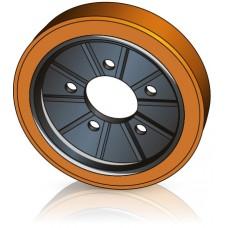 300 - 70 мм Ведущее колесо 5 отверстий для электрических погрузчиков, штабелеров Jungheinrich / Steinbock